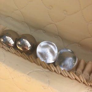 Vintage round earring bundle